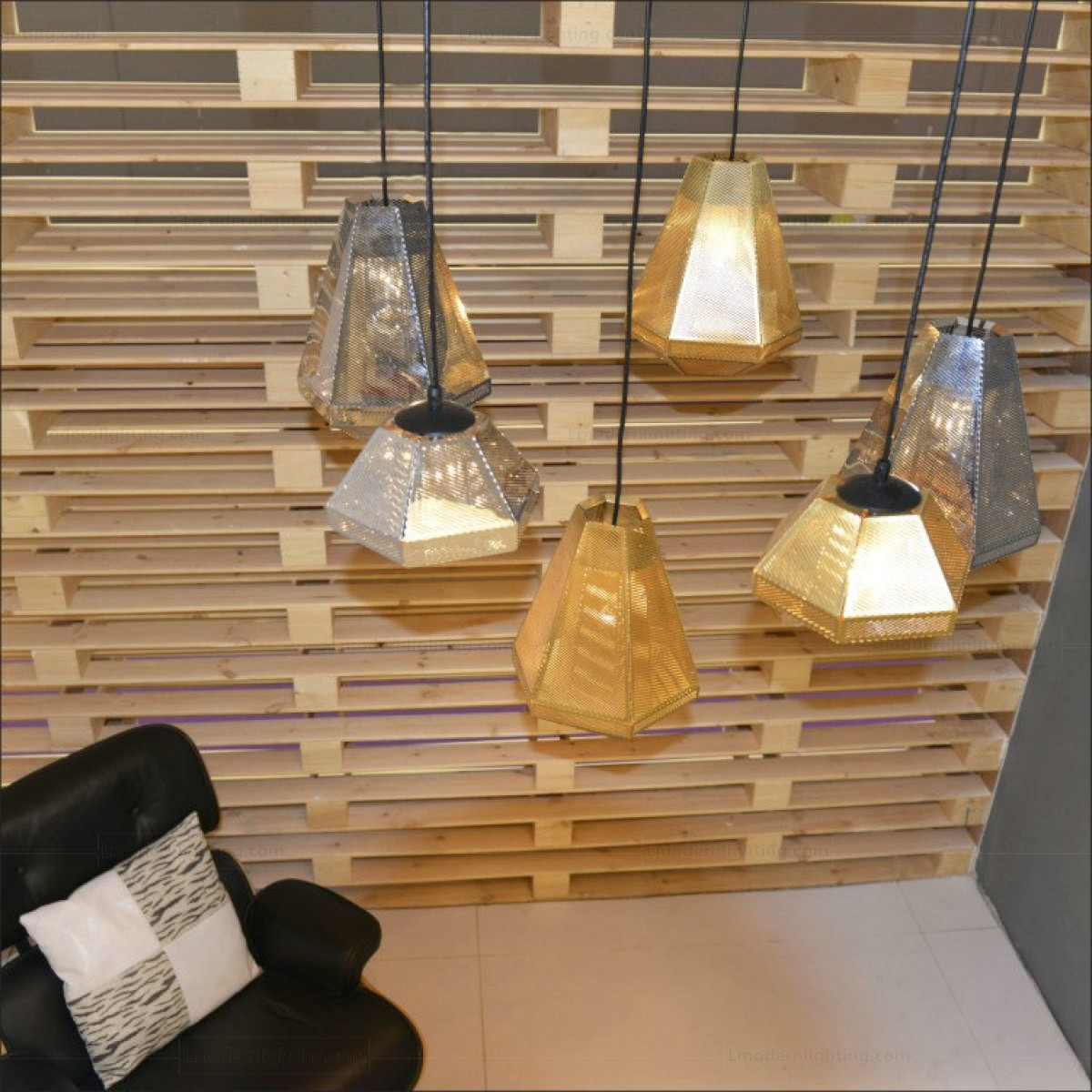 Diamond Hollow Carved Cell Tall Pendant Lamp