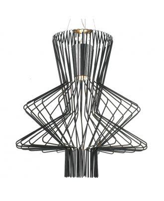 Aluminum Allegro Ritmico Suspension Lamp