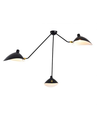 Serge Mouille Spider Ceiling Lamp 3 Arm